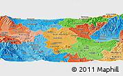 Political Shades Panoramic Map of Sveti Nikole