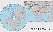 Gray Location Map of Sveti Nokole