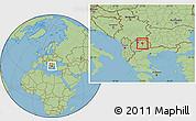 Savanna Style Location Map of Sveti Nokole