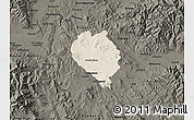 Shaded Relief Map of Sveti Nokole, darken