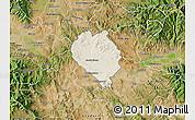 Shaded Relief Map of Sveti Nokole, satellite outside