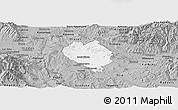 Gray Panoramic Map of Sveti Nokole