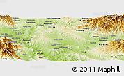 Physical Panoramic Map of Sveti Nokole