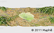 Physical Panoramic Map of Sveti Nokole, satellite outside