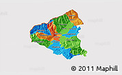 Political 3D Map of Tetovo, cropped outside