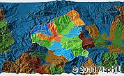Political 3D Map of Tetovo, darken