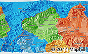 Political Shades 3D Map of Tetovo