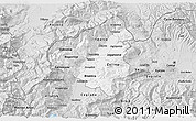 Silver Style 3D Map of Tetovo