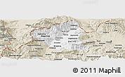 Classic Style Panoramic Map of Tetovo