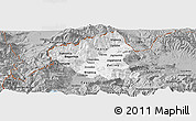 Gray Panoramic Map of Tetovo