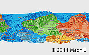 Political Shades Panoramic Map of Tetovo