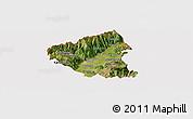 Satellite Panoramic Map of Tetovo, cropped outside