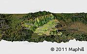Satellite Panoramic Map of Tetovo, darken