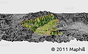 Satellite Panoramic Map of Tetovo, desaturated