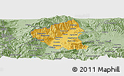 Savanna Style Panoramic Map of Tetovo