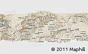 Shaded Relief Panoramic Map of Tetovo