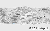 Silver Style Panoramic Map of Tetovo