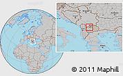 Gray Location Map of Zelino