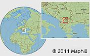 Savanna Style Location Map of Zelino