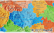 Political Shades 3D Map of Titov Veles