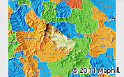 Physical Map of Bogomila, political outside