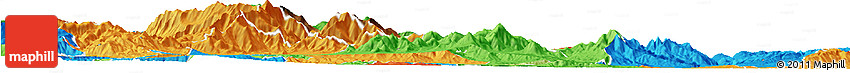 Physical Horizon Map of Caska, political outside