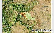 Physical Map of Caska, satellite outside