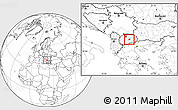Blank Location Map of Gradsko