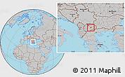 Gray Location Map of Gradsko