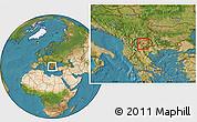 Satellite Location Map of Gradsko