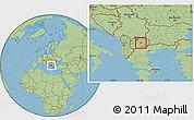 Savanna Style Location Map of Gradsko