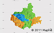 Political Map of Titov Veles, cropped outside