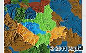 Political Map of Titov Veles, darken