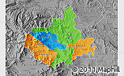 Political Map of Titov Veles, desaturated