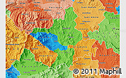 Political Map of Titov Veles, political shades outside