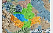 Political Map of Titov Veles, semi-desaturated