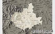 Shaded Relief Map of Titov Veles, darken