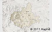 Shaded Relief Map of Titov Veles, lighten