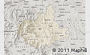 Shaded Relief Map of Titov Veles, semi-desaturated