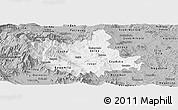 Gray Panoramic Map of Titov Veles