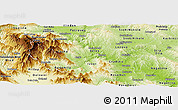 Physical Panoramic Map of Titov Veles