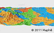 Political Panoramic Map of Titov Veles