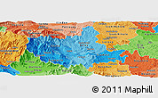 Political Shades Panoramic Map of Titov Veles