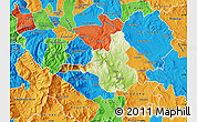 Physical Map of Veles, political outside