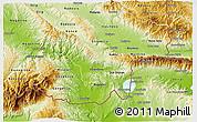 Physical 3D Map of Valandovo