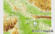 Physical Map of Valandovo