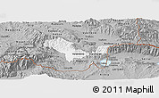 Gray Panoramic Map of Valandovo