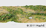 Satellite Panoramic Map of Valandovo