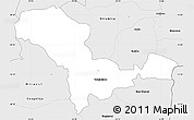 Silver Style Simple Map of Valandovo
