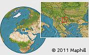 Satellite Location Map of Vinica